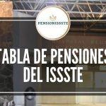 TABLA DE PENSIONES PENSIONISSSTE